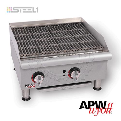 اجاق پخت برگر – APW  GCB-24i Charbroiler ,تجهیزات,تجهیزات فست فود
