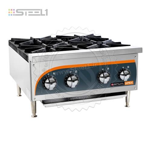 اجاق گاز رومیزی ۴شعله – Anvil STG004 ,تجهیزات,تجهیزات آشپزخانه صنعتی,تجهیزات فست فود,تجهیزات کافی شاپ,تجهیزات هتل