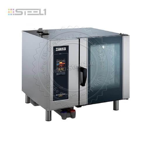 فر کانوکشن زانوسی ۶ سینی-Combi oven Zanussi Professional ,تجهیزات,تجهیزات آشپزخانه صنعتی,تجهیزات هتل