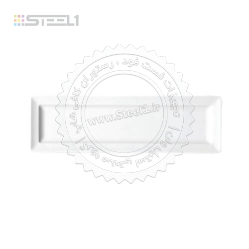 بشقاب تخت مستطيل – ۱۰.۵×۴۰ سانت –  ۱۶۳۶۰ ,تجهیزات,تجهیزات هتل,ظروف چینی