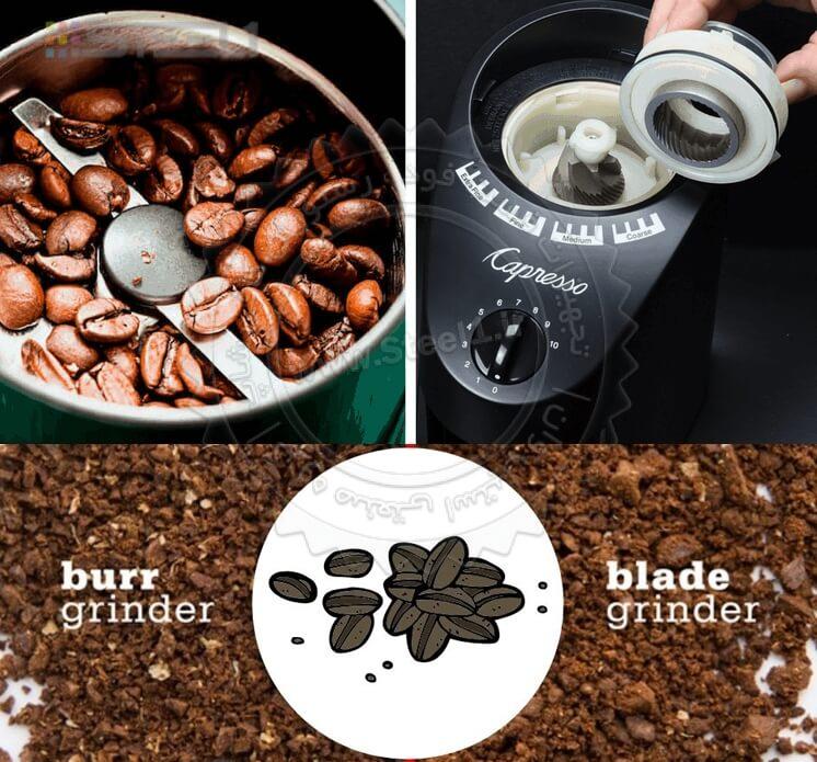 آسیاب قهوه تیغه ای یا دندانه ای؟ blade vs burr